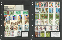 Great Britain Stamp Collection, Mint NH Gutter Pair Sets Lot, 3 Pages, JFZ