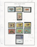 Cocos Islands Stamp Collection, 1990, #225-236 Local Overprints MNH, JFZ