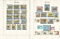 Isle of Man Stamp Collection on 24 Pages, 1973-1986 Complete Sets, JFZ