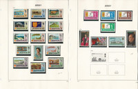 Jersey Stamp Collection on 29 Pages, 1971-1986 Complete Sets, JFZ