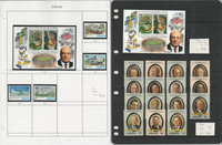 Liberia Stamp Collection on 9 Pages, Mint Sets & Sheets, JFZ