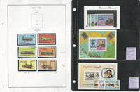 Mauritania Stamp Collection on 13 Pages, Mint Sets & Sheets, JFZ