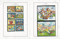 Tanzania Stamp Collection on 16 Pages, 1988-1990 Disney Mint Sets, JFZ