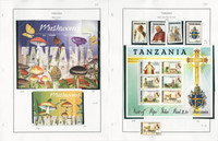 Tanzania Stamp Collection on 5 Pages, Mushrooms, Pope, Mint Sets, JFZ