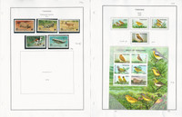Tanzania Stamp Collection on 8 Pages, Animals, Fish, Birds Mint Sets, JFZ