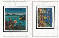 Tanzania Stamp Collection on 10 Pages, 1999-2005 Fish Mint Sets, JFZ