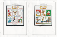Tanzania Stamp Collection on 4 Pages, Rudolph Reindeer Christmas Mint, JFZ