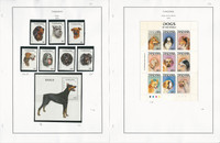 Tanzania Stamp Collection on 6 Pages, 1993-94 Dogs Mint Sets, JFZ