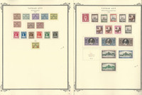 Vatican City Stamp Collection on 20 Scott Specialty Pages, 1929-1960, JFZ