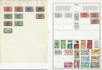 Chad Stamp Collection on 14 Scott & Harris Pages, 1922-1983, JFZ