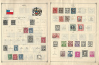 Chile Stamp Collection on 24 Scott International Pages, 1853-1959, JFZ