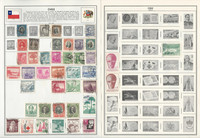 Chile Stamp Collection on 6 Harris Pages, 1878-1976, JFZ