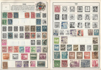 Chile Stamp Collection on 12 Harris Pages, 1878-1980, JFZ