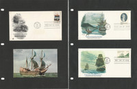 United Sates Ships, Nautical Stamp Collection on 14 Pages, Covers+  (D), JFZ