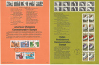 United Sates Stamp Collection on 24 Pages, FDC Souvenir Pages, 1990, JFZ