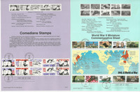 United Sates Stamp Collection on 53 Pages, FDC Souvenir Pages, 1991, JFZ