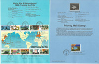 United Sates Stamp Collection on 35 Pages, FDC Souvenir Pages, 1993, JFZ