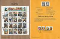 United Sates Stamp Collection on 50 Pages, FDC Souvenir Pages, 1995, JFZ
