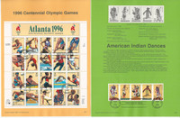 United Sates Stamp Collection on 40 Pages, FDC Souvenir Pages, 1996, JFZ