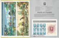 United Sates Stamp Collection on 37 Pages, FDC Souvenir Pages, 1997, JFZ