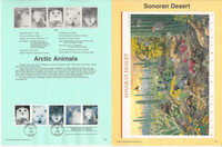 United Sates Stamp Collection on 40 Pages, FDC Souvenir Pages, 1999, JFZ