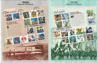 United Sates Stamp Collection on 7 Pages, FDC Souvenir Pages, 1998-99, JFZ
