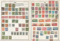 China Stamp Collection on 30 Harris Pages, 1898-1980, JFZ
