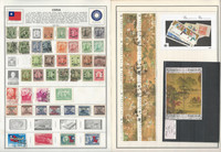 China Stamp Collection on 18 Harris Pages, 1897-1975, JFZ