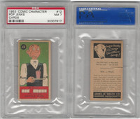 R757-1 Welch, Comic Characters, 1953, #12 Pop Jenks, PSA 7 NM (cracked case)