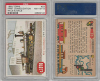 1955 Topps, Rails & Sails, #33 First Consolidation, PSA 8 NMMT