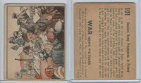 R165 Gum Inc, War News Pictures, 1939, #101 Russians Dump Propaganda In Poland