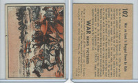 R165 Gum Inc, War News Pictures, 1939, #102 War On Land Is Bogged