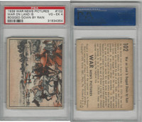 R165 Gum Inc, War News Pictures, 1939, #102 War On Land Is Bogged, PSA 4 VGEX