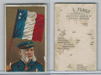 N17 Allen & Ginter, Naval Flags, 1887, France, Rear Admiral (Trimmed)