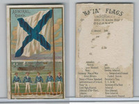 N17 Allen & Ginter, Naval Flags, 1887, Russia, Admiral (Trimmed)