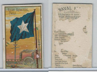 N17 Allen & Ginter, Naval Flags, 1887, Chili, Rear Admiral (Trimmed)