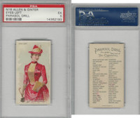 N18 Allen & Ginter, Parasol Drill, 1888, Eyes Left, PSA 5 EX