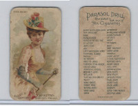 N18 Allen & Ginter, Parasol Drill, 1888, Eyes Right