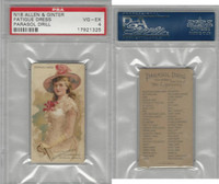 N18 Allen & Ginter, Parasol Drill, 1888, Fatigue Dress, PSA 4 VGEX