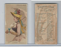 N18 Allen & Ginter, Parasol Drill, 1888, Forward March