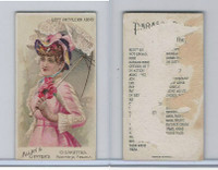 N18 Allen & Ginter, Parasol Drill, 1888, Left Shoulder Arms