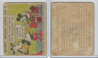 R89 Gum Inc, Mickey Mouse, Type 1, 1935, #5 Looks Funny When She Knits