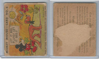 R89 Gum Inc, Mickey Mouse, Type 1, 1935, #6 Let It Bee, Pluto! Let It Bee!!