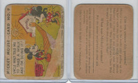 R89 Gum Inc, Mickey Mouse, Type 1, 1935, #9 Uncle Walt Told Me To