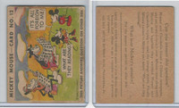 R89 Gum Inc, Mickey Mouse, Type 1, 1935, #12 What Are They Reading?