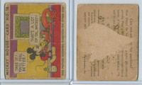 R89 Gum Inc, Mickey Mouse, Type 1, 1935, #18 Take It! You'll Feel Better