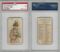 N18 Allen & Ginter, Parasol Drill, 1888, Not Engaged, PSA 1
