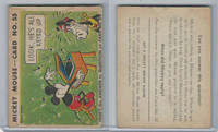 R89 Gum Inc, Mickey Mouse, Type 2, 1935, #55 Look, He's All Keyed Up!