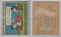 R89 Gum Inc, Mickey Mouse, Type 2, 1935, #60 Look, They're Coming