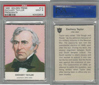 1960 Golden Press W547, Presidents, #12 Zachary Taylor, PSA 9 Mint